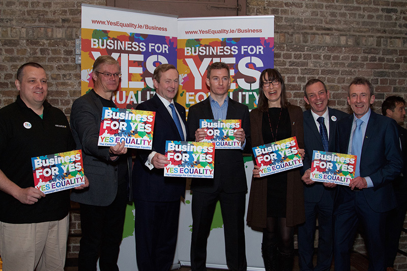 John Hamill, CEO of Vennetics with the Irish Prime Minister Mr. Enda Kenny and other Irish Business leaders including representatives from Twitter and Atlantic Bridge Ventures at the Business For Yes Equality Seminar.