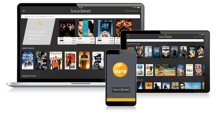 SURE Launches New TV & VoD Search and Discovery App called